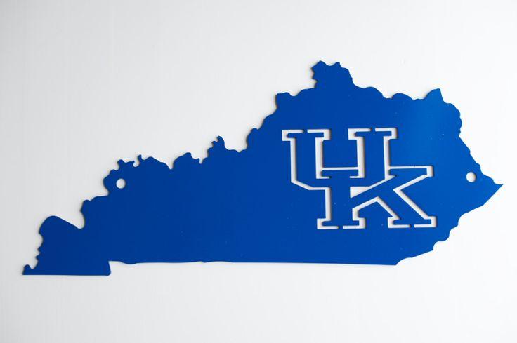 Uk Basketball Clip Art: Kentucky Outline With Kentucky Cutout