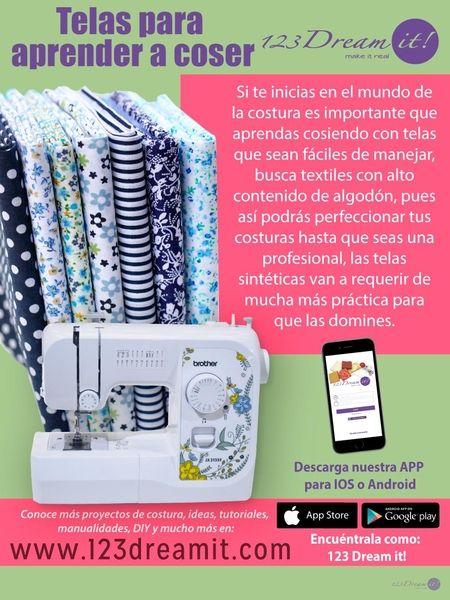 Si apenas vas a iniciar a involucrarte en el mundo de la costura, aquí te decimos que telas son las ideales para aprender a coser.