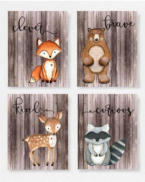 Woodland, nursery, Boys room, Fox picture, Woodland theme, Baby shower, gift, Personalized, baby gift, wall art, baby shower decor, custom