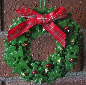puzzle wreath