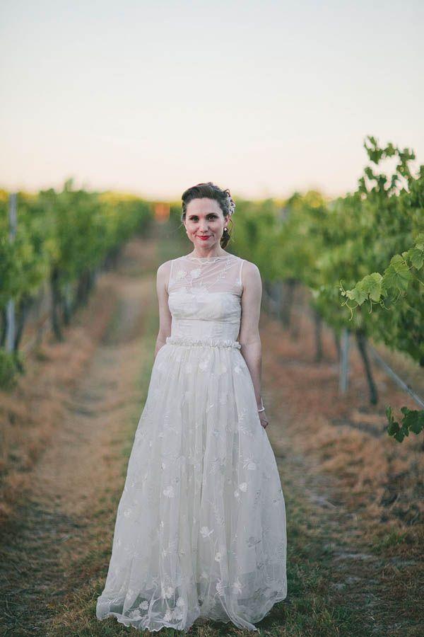 Perth Vineyard Wedding Garden DressesBackless DressesVintage