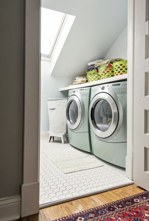 Sloped Ceiling Laundry Rooms And Laundry On Pinterest
