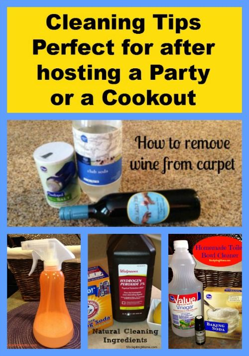 Cleaning Tips that are perfect for after hosting a Party/Cookout