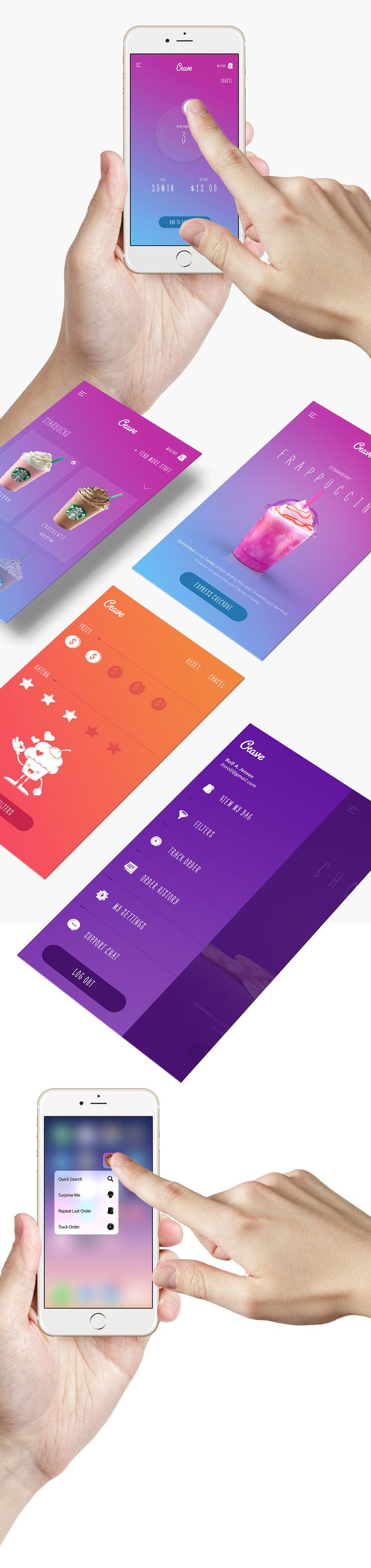 Crave App on Behance