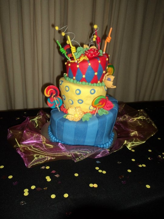 21st wonderland cake. I didn't actually make it, someone had made it for me but it tasted as amazing as it looked!!