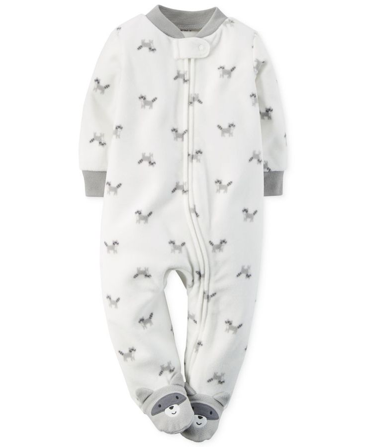 Carter's Baby Boys' Raccoon Print Pajamas