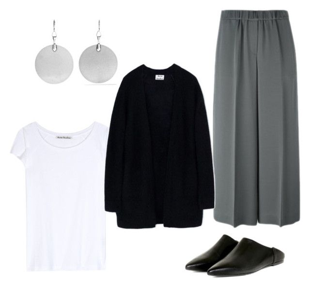 """""""Grey culottes"""" by kirsti-salonen on Polyvore featuring Isabel Marant, Theory and Acne Studios"""