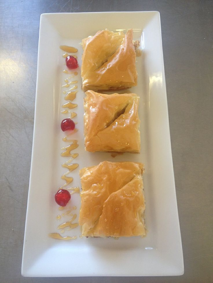Baklava squares..a party isn't a party without dessert