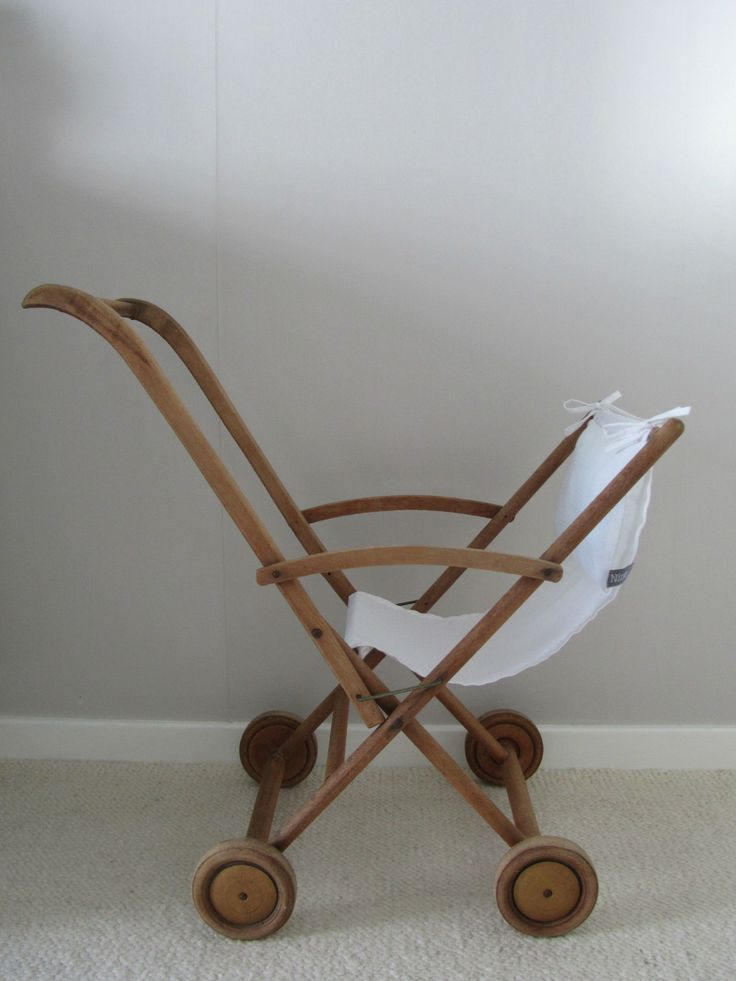 Wooden stroller Vintage