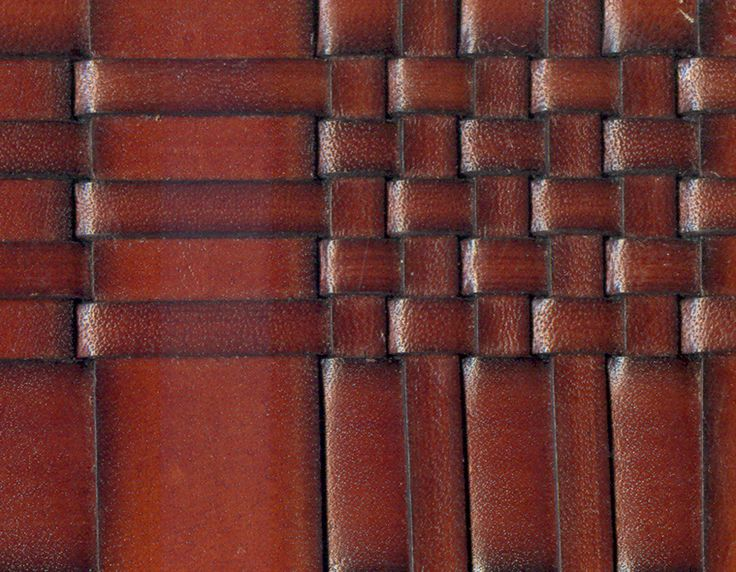weaving leather patches - then sew it into a quilt with jean material...: Idea, Leatherwork