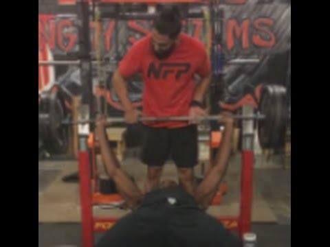 cool Jon Jones 350 pound bench press (personal record)