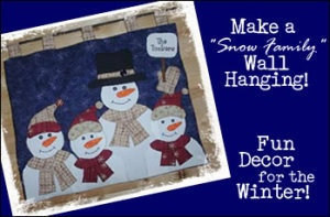 Snowman Wall Hanging Pattern Applique by littleangelsboutique, $10.00