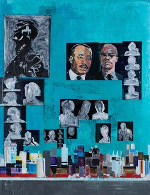 A piece called Is it OK To be Black? by Hurvin Anderson.