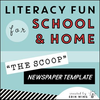 The Scoop Is A Student Newspaper Template To Use For Class Writing Projects Or As Family Project At Home You Can Print Blank PDF