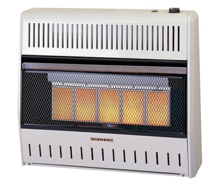 Pro-Com MG3TIR Dual Natural Gas / Propane Wall Heater, 28000 BTU