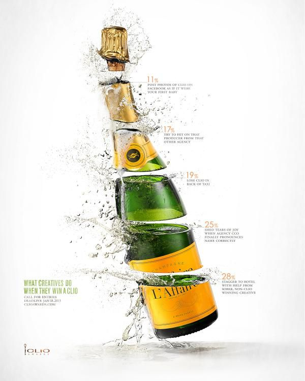 Champagne, CLIO AWARDS , CLIO Awards, Print, Outdoor, Ads