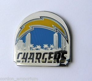 SAN DIEGO CHARGERS NFL SKYLINE FOOTBALL LOGO LAPEL PIN BADGE 1.25 INCH | eBay