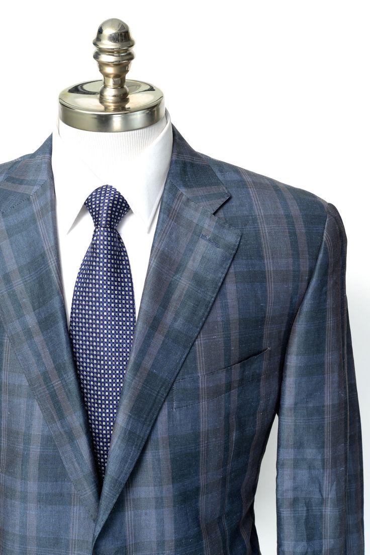 Ties On Sale, Midnight Blue Melange, Cotton, 2017, one size Belvest