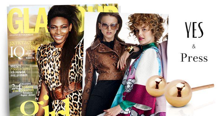 Złote kolczyki YES w najnowszym wydaniu magazynu Glamour.pl | www.Bit.ly/GLAMzlotekolczyki | Zainspiruj się stylizacją Magda Jagnicka i zabłyśnij z naszą Biżuterią! | Foto: Adam Pluciński #Glamour #BizuteriaYES #press #YESandPRESS #magazine #fashion #style #jewellery