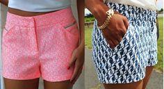 Short simples cós médio – DIY – molde, corte e costura – Marlene Mukai