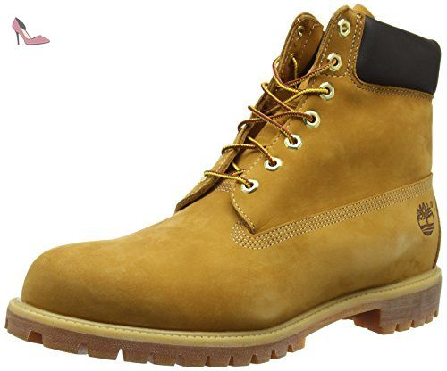 Timberland 6 Premium, Bottes Classiques homme - Jaune (Wheat Nubuck) - 43 EU - Chaussures timberland (*Partner-Link)