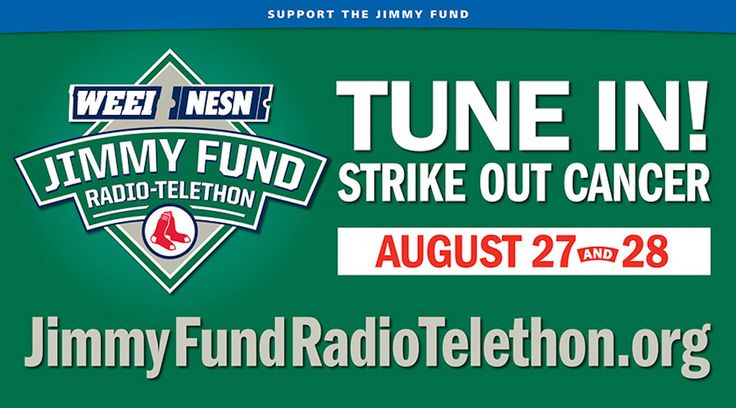 It's almost here...the 2013 WEEI/NESN Jimmy Fund Radio-Telethon @The Jimmy Fund @Boston Red Sox    #RadioTelethon