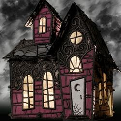 Freestanding Lace Haunted House embroidery design from embroideryonline.com
