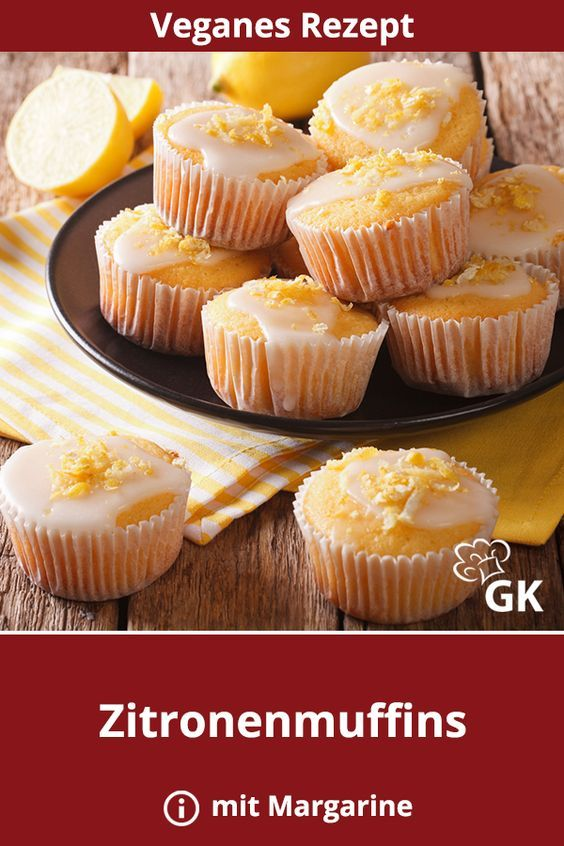Vegane Zitronenmuffins Rezept Cupcakes Muffins Desserts