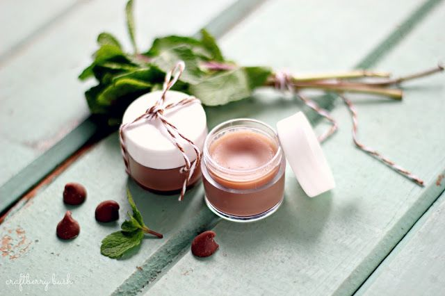 Craftberry Bush: Chocolate mint homemade lip balm