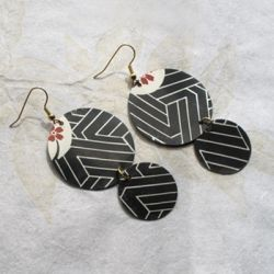 This video shows you how to make a fun pair of earrings from an unexpected material – an upcycled plastic to-go container for sushi!