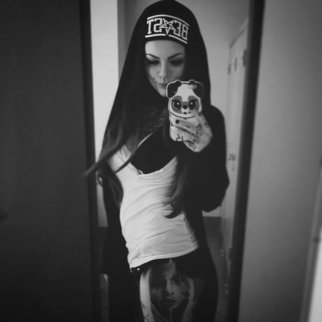 """BEAST"" Beanie Available at www.crmc-clothing.co.uk   WE SHIP WORLDWIDE Model - @sarasurprisink #altgirl #alternativegirl #altwear #altfashion #alternative #alternativefashion #represent #girl #need #style #want #beast #beanies #eyes #beanie #warm #beautiful #grunge #beastmode #beastcoast #stylegram #fashionista #fashionaddict #alternativegirl #love #cute #esoteric #occult"