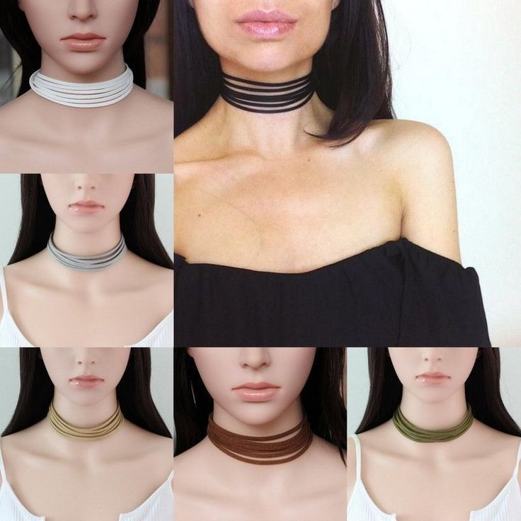 Fashion Suede Leather 5 Layers Choker Collar Necklace Women Girls Charms Jewelry…