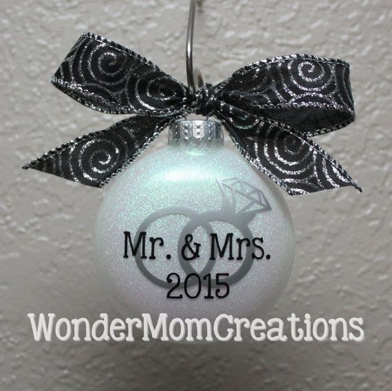 Mr. & Mrs. Wedding Ornament; Just Married Christmas Ornament; Newlywed Christmas Ornament; Our First Christmas Ornament; Christmas Wedding