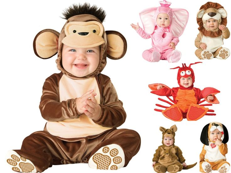 תינוקות Cartoon תינוק חליפת Romper ילדים סרבל תינוקות פיל לובסטר בעלי חיים צורות Cosplay תלבושות ילד סתיו חורף ביגוד