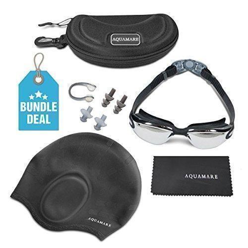 Oferta: 15.99€ Dto: -60%. Comprar Ofertas de Gafas de natación de silicona y gorro de baño (clip para la nariz, tapones para los oídos, estuche protector, pañuelo para se barato. ¡Mira las ofertas!