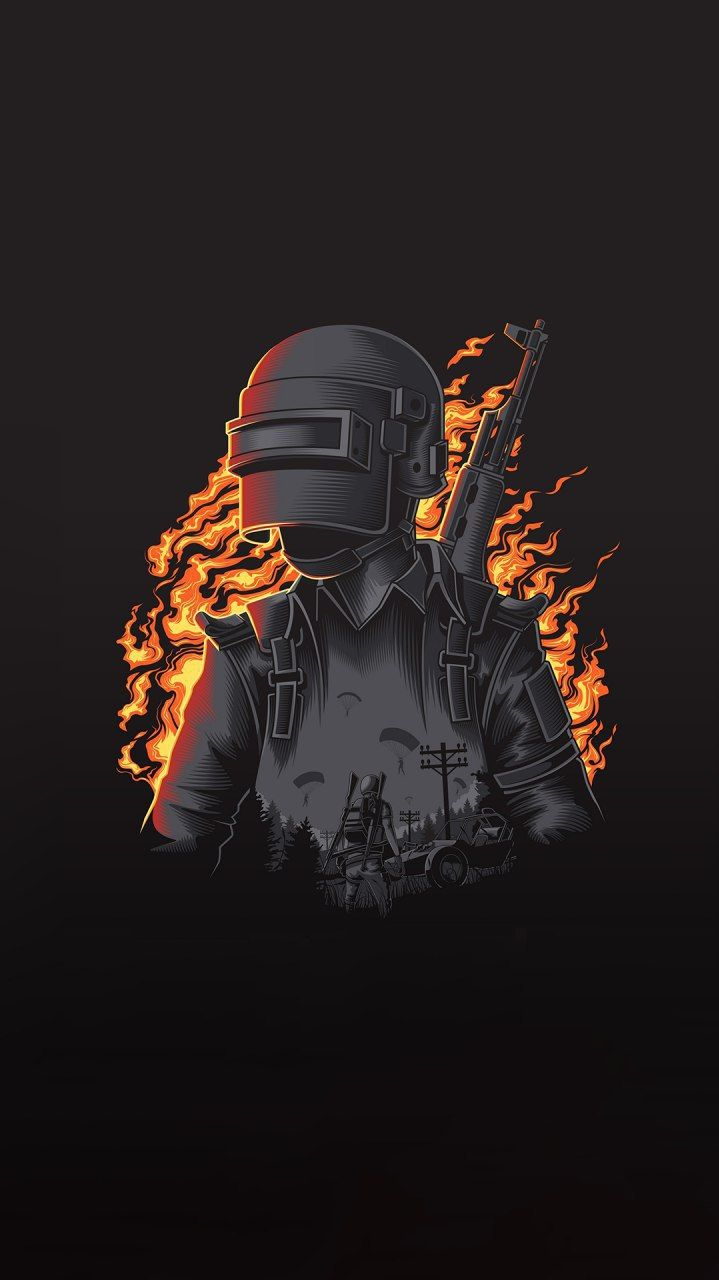 Nice PUBG Art iPhone Wallpaper 3