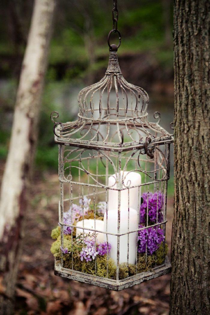 cage à oiseaux décorative, décoration créative
