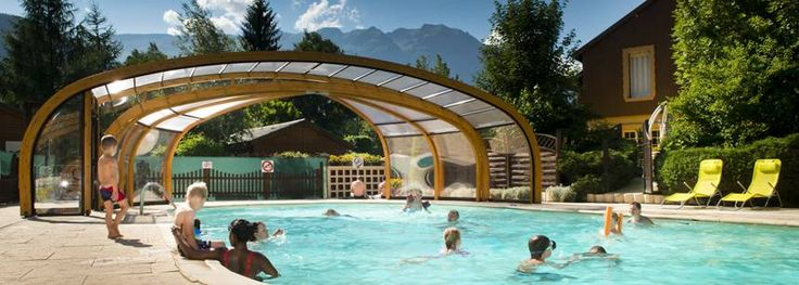 The covered pool at A la Rencontre du Soleil, Les Abrets, France