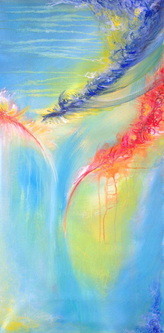 Painting Abstract Acrylic Painting Wall Art by RashidaAGallery