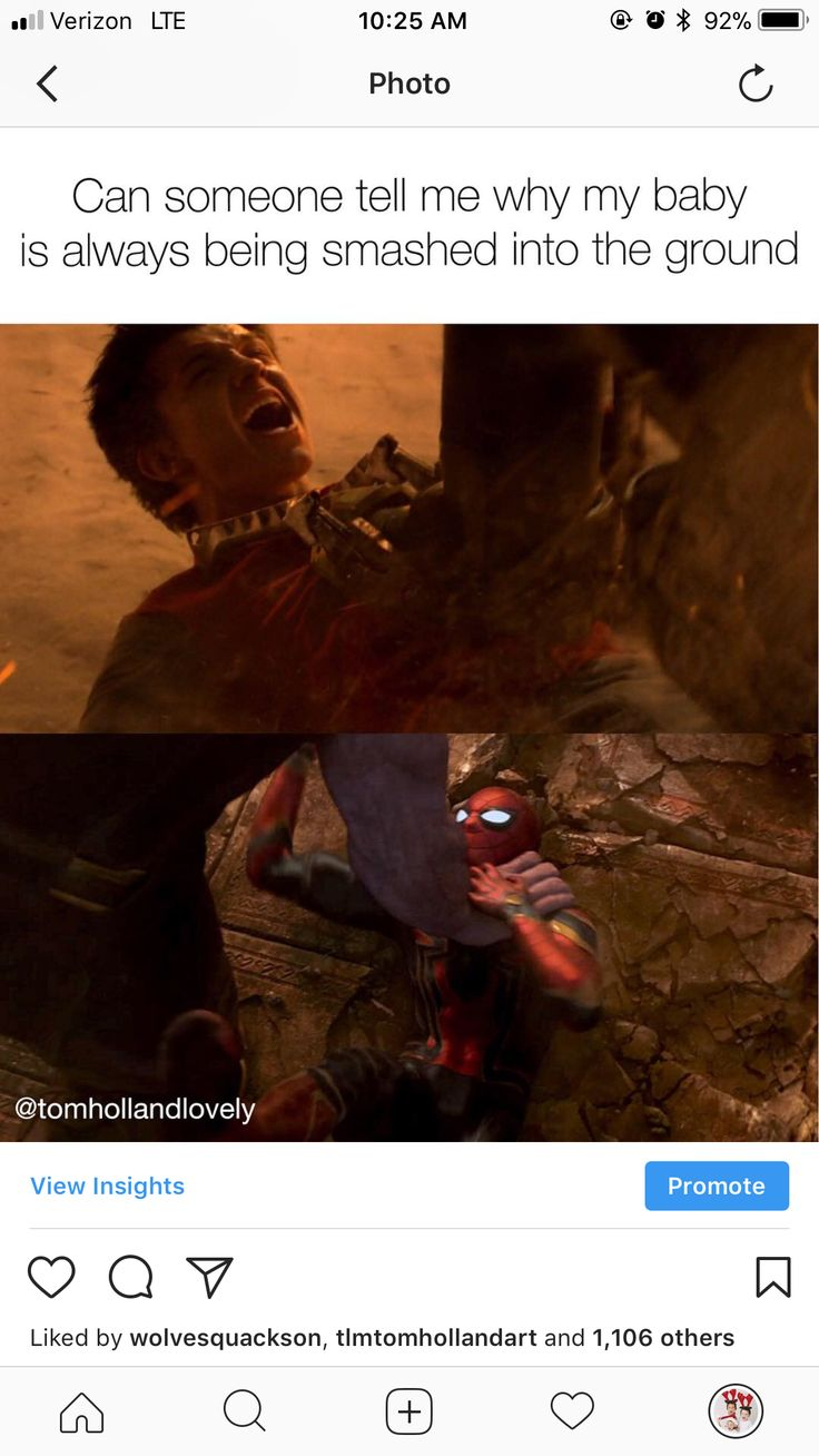No I can not. No one has even the fucking right to touch *our* baby. (Only we) <<<< I'm not even a massive fan of spider man but I still hate to see him hurt, he's only a child!!