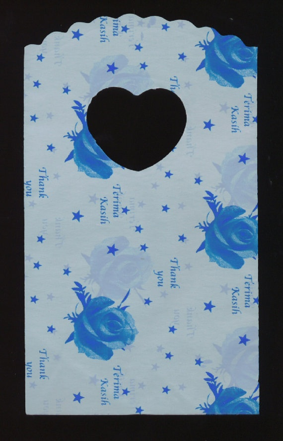 THANK YOU Blue Plastic Gift Bags Floral Flower by TheMaineCoonCat, $2.25 COME SEE ALL MY SALES!!