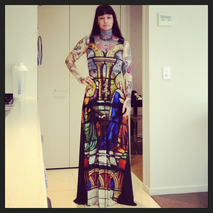 Cathedral Sheer Maxi Dress