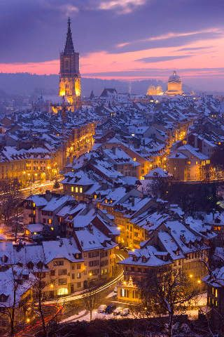 foto kunstdruck bern be altstadt nacht winter kanton. Black Bedroom Furniture Sets. Home Design Ideas