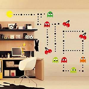 Nice Pac Mann Games Wandsticker Kinderzimmer Babyzimmer Entfernbare Wandtattoos Wandbilder