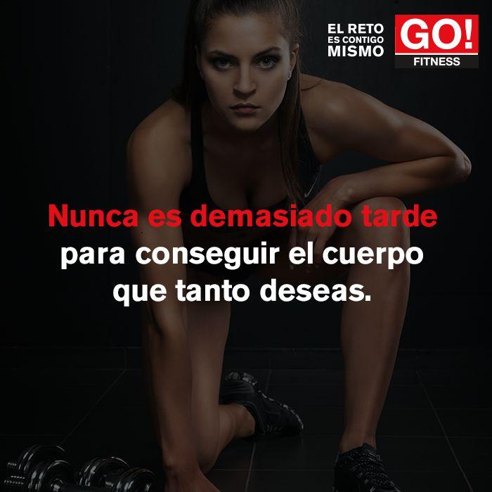 Nunca es demasiado tarde. #gofitness #clasesgo #ejercicio #gym #fit #fuerza #flexibilidad #reto #motivate