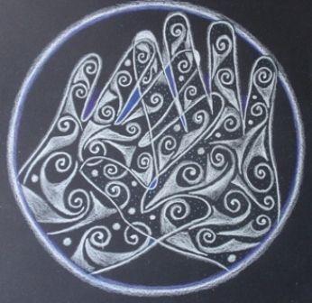 "Mandala ""manos sanadoras"""