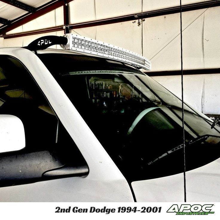 """1994,95,95,6,97,98,99,2000,01, 2nd Generation Dodge 1500 Apoc Roof Mount for 52"""" Curved Led Light Bar, Windshield Mounts, Brow Mounts,"""
