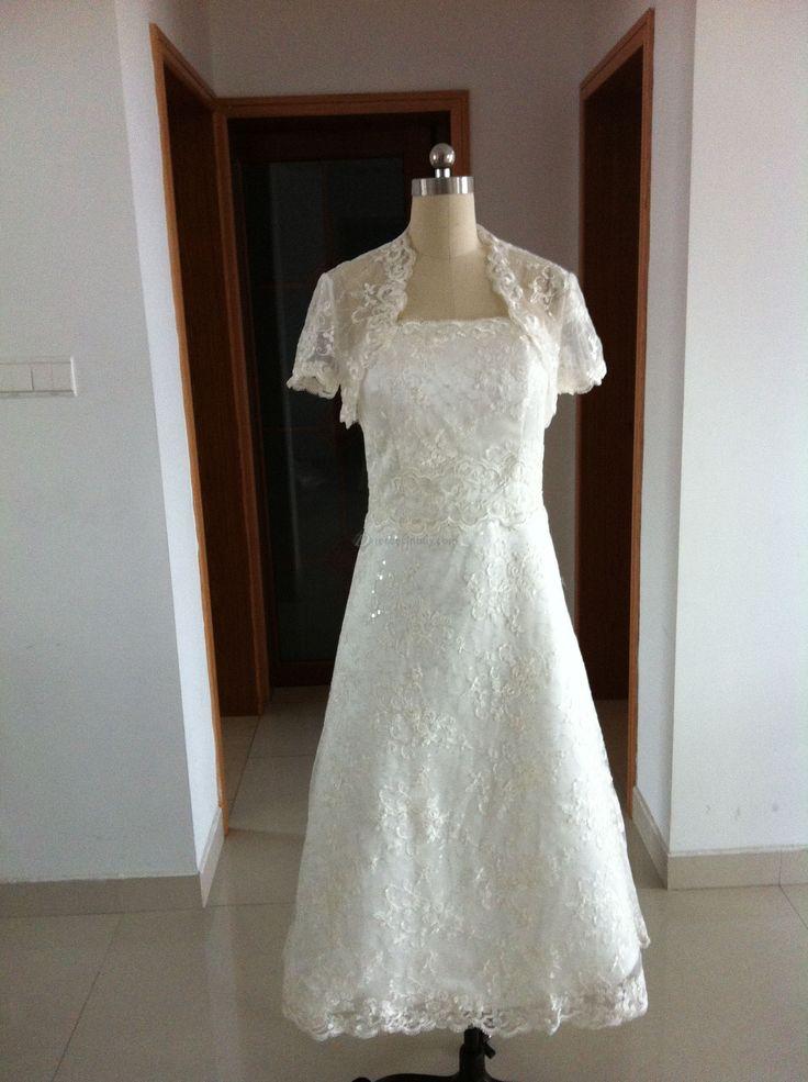 Tea length wedding dresses for older brides tea for Tea length wedding dresses for older women