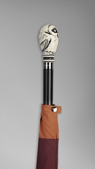 Burberry - OWL HANDLE STRIPED WALKING UMBRELLA