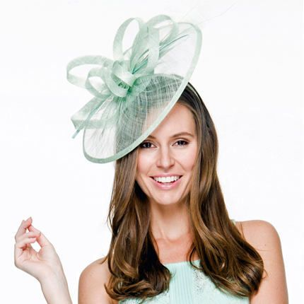 d1e44642786 Be the toast track-side in this stunning and original peppermint  pale  green  mint fascinator. The perfect hair accessory for spring race-day